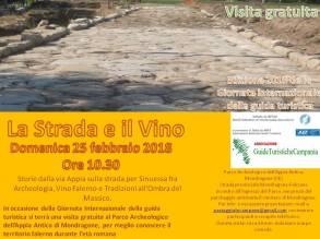 MONDRAGONE (CE) - 25 FEBBRAIO - La strada e il vino
