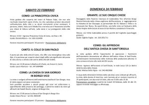 Provincia COMO - 23 e 24 febbraio