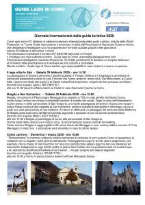 COMO e BREGLIA (CO) - 29 febbraio - 1 marzo