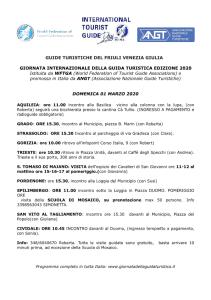 Friuli Venezia Giulia: varie località - 1 marzo