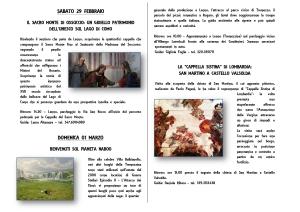 LENNO e CASTELLO VALSOLDA (CO)- 29 febbraio e 1 marzo (itinerari)